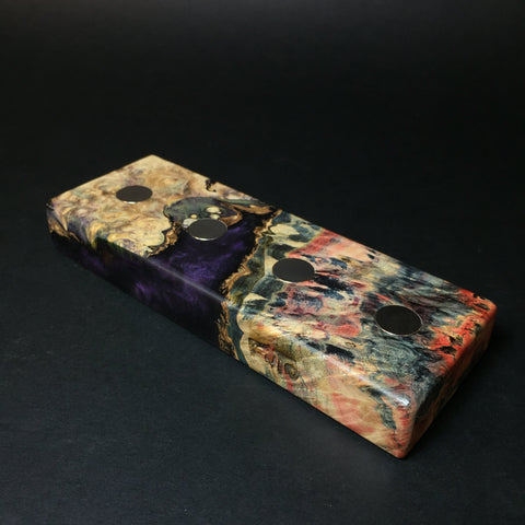Futo Galaxy Burl Magnet Stand #1453 - Stabilized Boxelder Burl - DynaVap Stand - Desktop Magnetic Display Stand