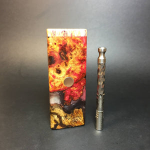 Galaxy Burl FutoStash SXL #1368 - Stabilized Boxelder Burl - DynaVap Stash