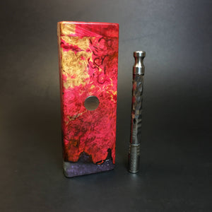 Galaxy Burl FutoStash SXL #1394 - Stabilized Boxelder Burl - DynaVap Stash