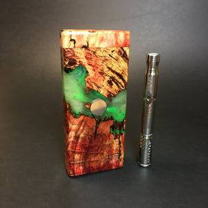 Galaxy Burl FutoStash S #1405 - Stabilized Boxelder Burl - DynaVap Stash