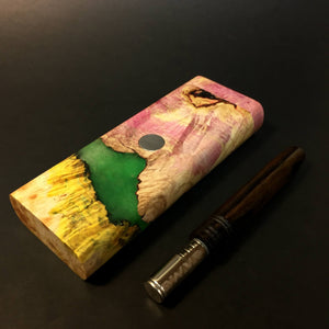 Galaxy Burl FutoStash XL #1408 - Glow in the Dark - Stabilized Boxelder Burl - DynaVap Stash