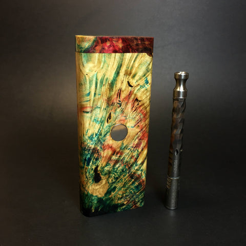 Galaxy Burl FutoStash XL #1412 - Stabilized Boxelder Burl - DynaVap Stash
