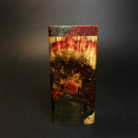 Galaxy Burl FutoStash X #1438 - Stabilized Boxelder Burl - Glass One Hitter