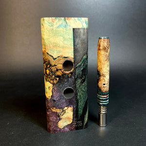 Galaxy Burl XL G2 FutoStash #1546 - Stabilized Burl & Resin - DynaVap Stash