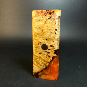 Galaxy Burl XL FutoStash #1555 - Stabilized Burl & Resin - DynaVap Stash