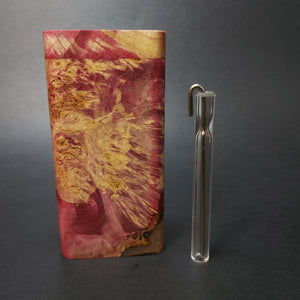 Galaxy Burl FutoStash X #1563 - Stabilized Boxelder Burl - Glass One Hitter