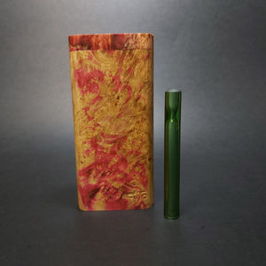 Galaxy Burl FutoStash X #1562 - Stabilized Boxelder Burl - Glass One Hitter