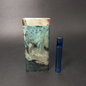 Galaxy Burl FutoStash G #1548 - Stabilized Boxelder Burl - Glass One Hitter