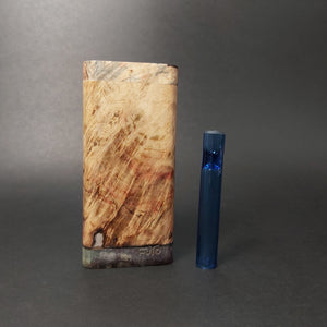 Galaxy Burl FutoStash G #1547 - Stabilized Boxelder Burl - Glass One Hitter