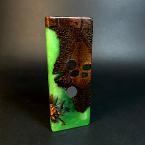 Galaxy Burl SXL G2 FutoStash #1552 - Glow-in-the-Dark - DynaVap Stash