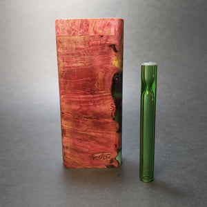 Galaxy Burl Dugout #1557 - Futo Model M - Stabilized Burl Wood & Resin - One Hitter Box
