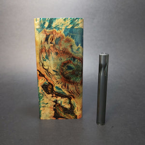 Galaxy Burl FutoStash X #1560 - Stabilized Boxelder Burl - Glass One Hitter