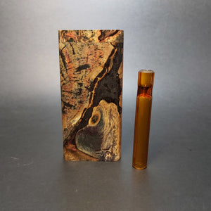 Galaxy Burl FutoStash G #1551 - Stabilized Boxelder Burl - Glass One Hitter