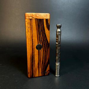 FutoStash SXL #1542- Tigerwood - XL Double Garage - Stores 2 Vaporizers  - DynaVap Stash - Vaporizer Case