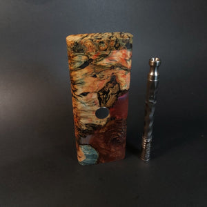 Galaxy Burl FutoStash XL #2010 - Stabilized Boxelder Burl - DynaVap Stash