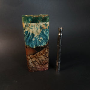 Galaxy Burl FutoStash XL #2011 - Stabilized Boxelder Burl - DynaVap Stash