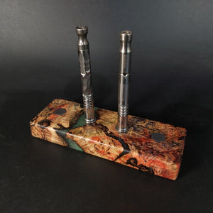 Futo Galaxy Burl Magnet Stand #2001 - Stabilized Boxelder Burl - DynaVap Stand - Desktop Magnetic Display Stand