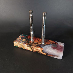 Futo Galaxy Burl Magnet Stand #2002 - Stabilized Boxelder Burl - DynaVap Stand - Desktop Magnetic Display Stand