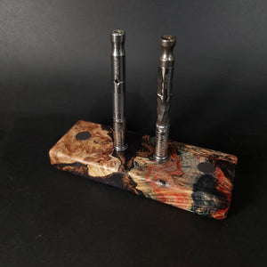Futo Galaxy Burl Magnet Stand #2003 - Stabilized Boxelder Burl - DynaVap Stand - Desktop Magnetic Display Stand