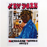 Original Applique Mickalene Thomas Portrait