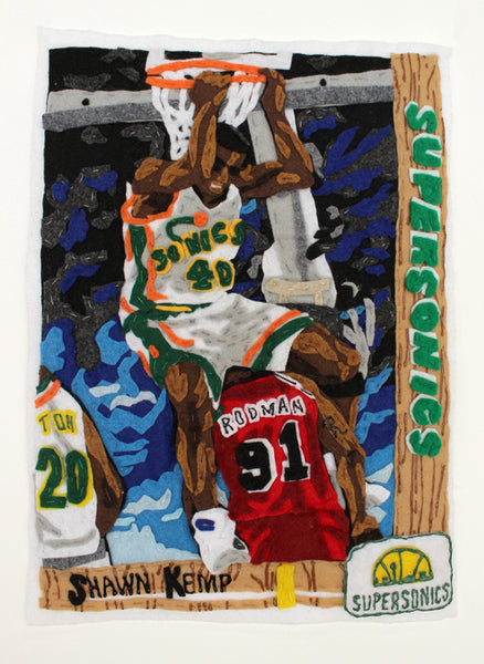 Original Applique Shawn Kemp