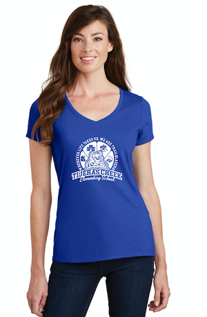 Tijeras Creek Elementary School-Ladies V-Neck