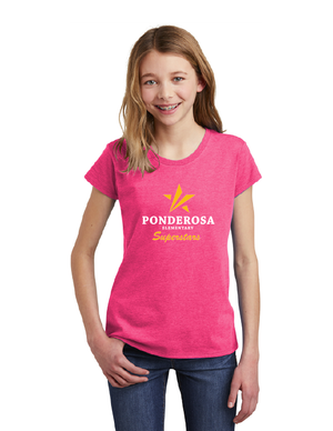 Ponderosa Elementary-Youth District Girls Tee