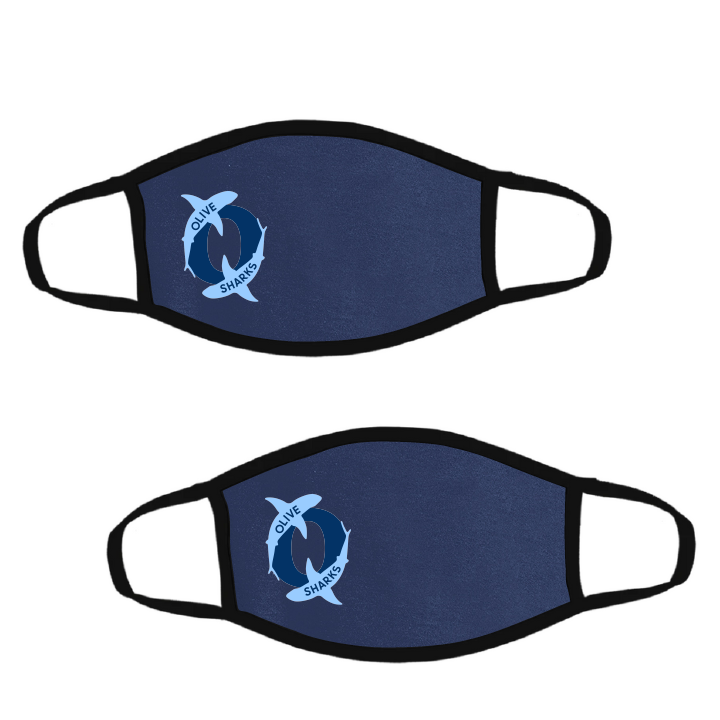 Olive Elementary School Spirit Wear-Pack of Two Premium Soft Face Masks w/ Built-In Nose Wire