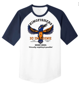 IC Imagine Public Charter School-Unisex Baseball Tee