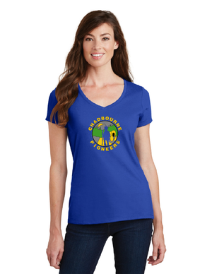 Chadbourne Pioneers Spirit Wear-Ladies V-Neck