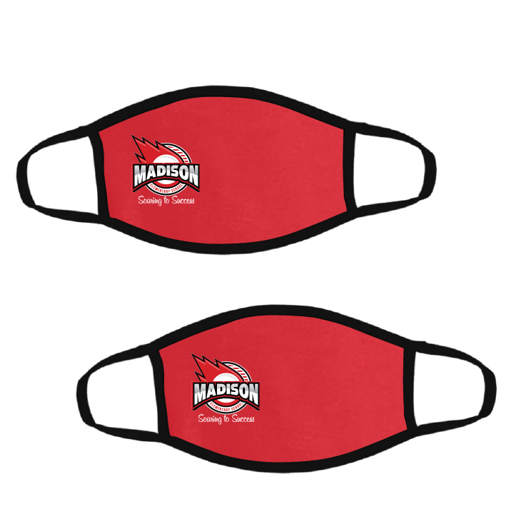 Madison Elementary Spirit Wear-Pack of Two Premium Soft Face Masks w/ Built-In Nose Wire