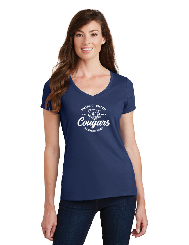 Emma C. Smith Elementary School-Ladies V-Neck