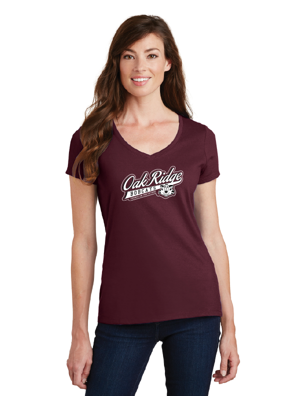 Oak Ridge Elementary Spirit Wear-Ladies V-Neck