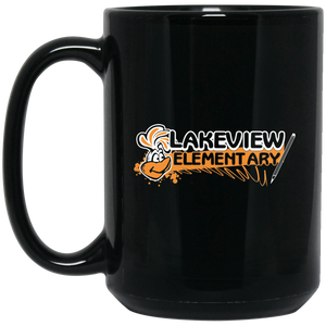 Lake View Large 15 oz. Black Mug Style #1