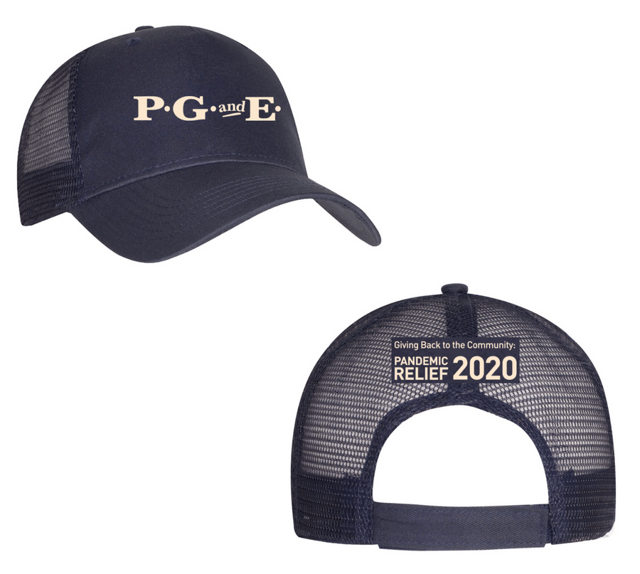 PG&E Nostalgic Limited Edition COVID-19 Hat - Navy Trucker
