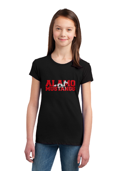 Alamo Elementary Girls Princess Cut Tee