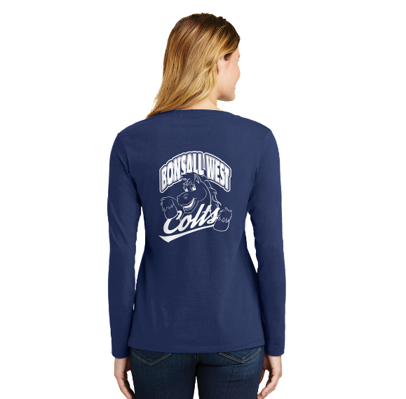 Bonsall West Ladies Long Sleeve Fan Favorite V-Neck Tee