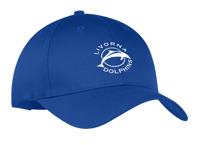 Livorna Dolphins Six-Panel Adjustable Twill Cap