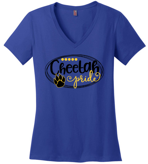 Chandler Cheetah's Women's V-Neck