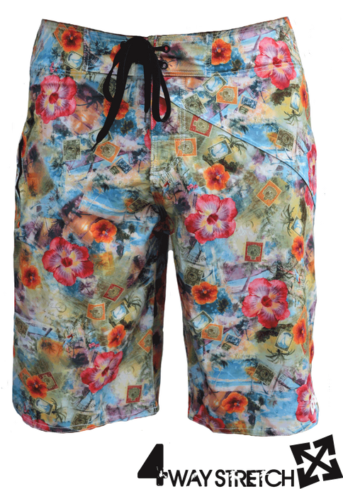 POLYNESIA 4-way stretch boardshort