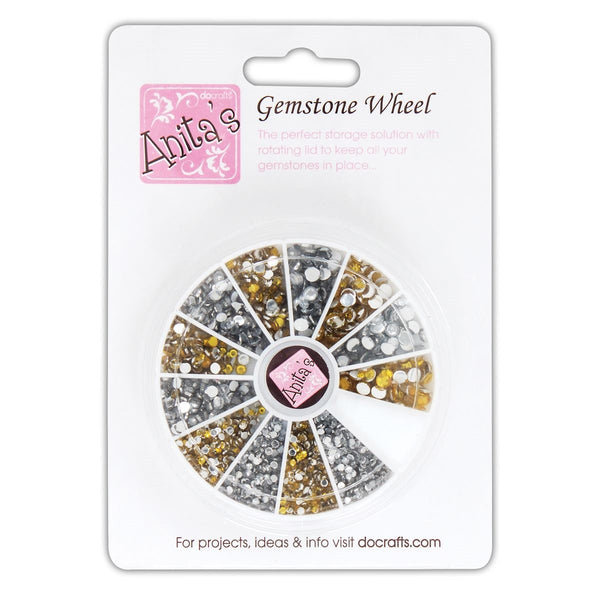 Gold & Silver Gem Wheel
