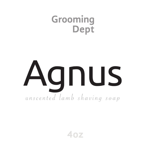 Agnus - Unscented Lamb Tallow Shaving Soap