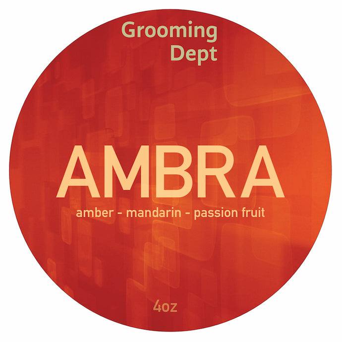 Grooming Dept Ambra Vegan Shaving Soap