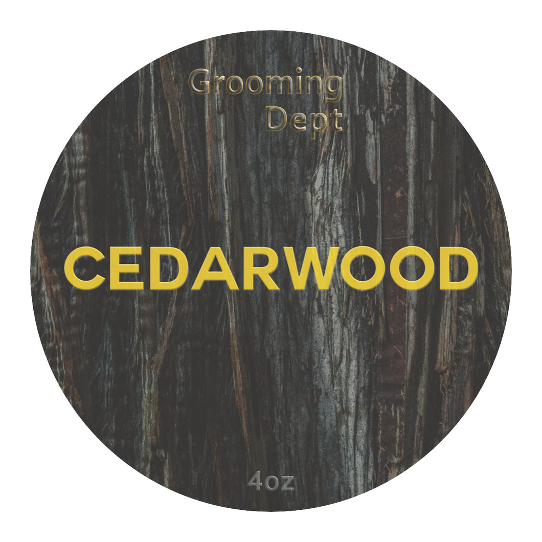 Grooming Dept Cedarwood  - Astute Collection Nai Formula Vegan Shaving Soap