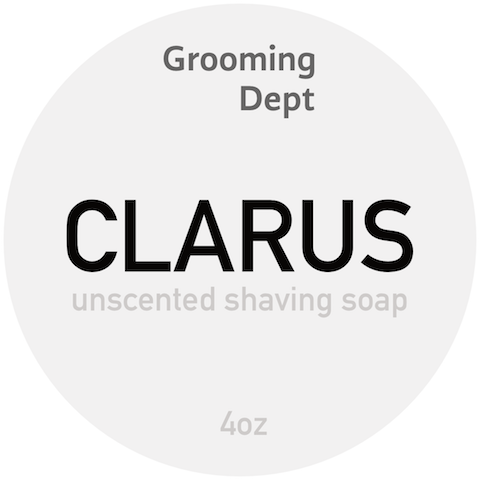 Clarus - Vegan Unscented Shaving Soap