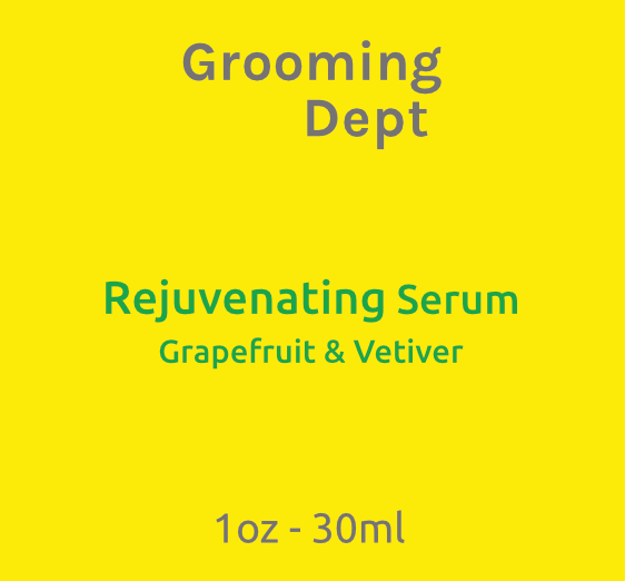 Grooming Dept Rejuvenating Serum - Grapefruit & Vetiver