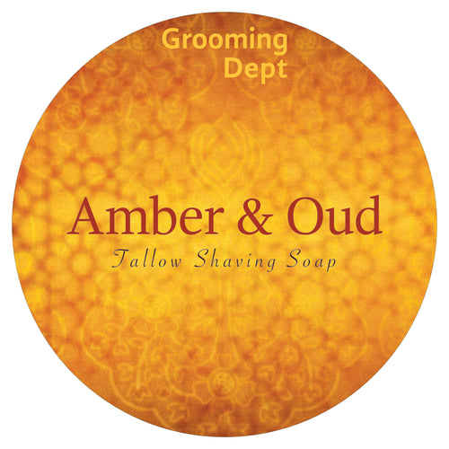 Amber & Oud - Tallow Shaving Soap