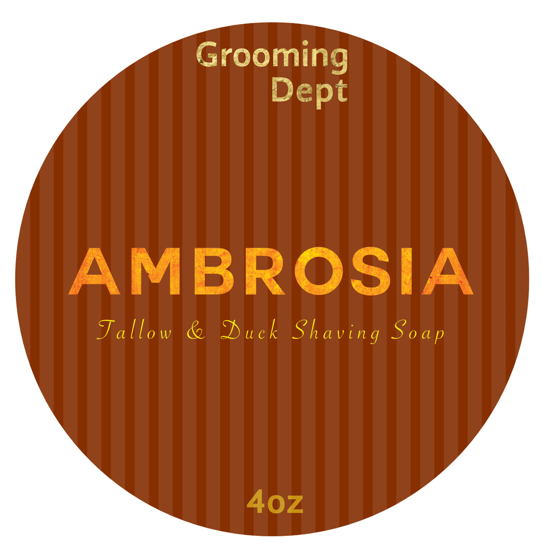 Ambrosia - Tallow Beef & Duck Fat Shaving Soap