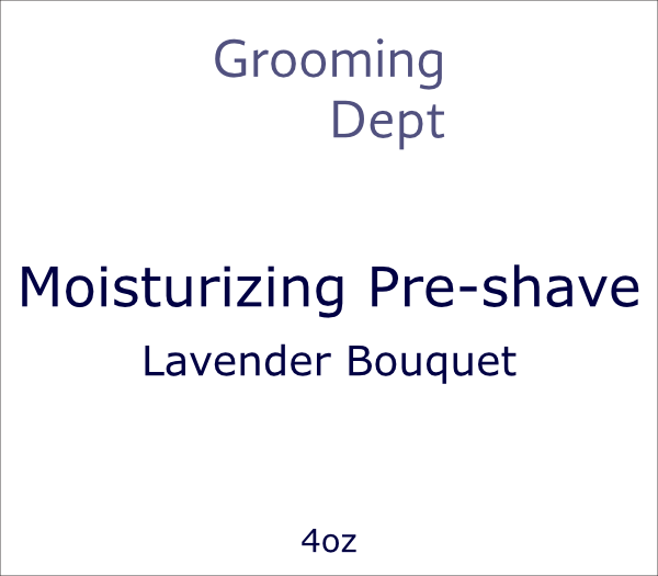 Grooming Dept Moisturizing Pre-shave - Lavender Bouquet