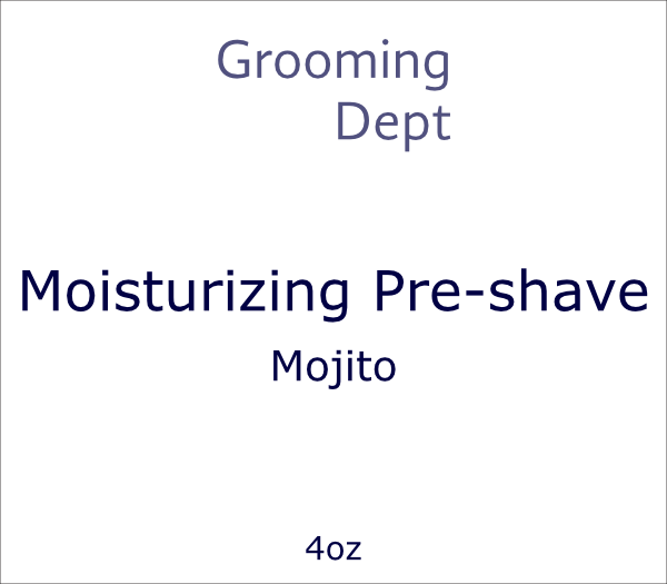 Grooming Dept Moisturizing Pre-shave - Mojito